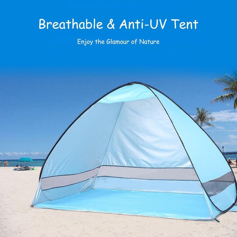 Tienda de campaña de playa portátil instantánea automática para exteriores de 200x120x130cm Anti UV refugio de pesca senderismo Picnic
