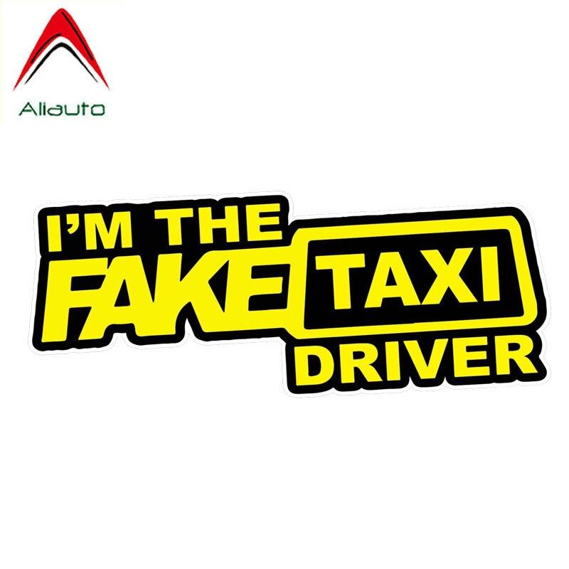 Aliauto Car I'm The Fake Taxi Driver креативные наклейки, индивидуальные наклейки, виниловые наклейки, 16 см * 6 см