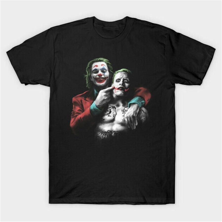 La broma del Joker Joaquin Phoenix Jared Leto camiseta negra divertida ropa deportiva camiseta