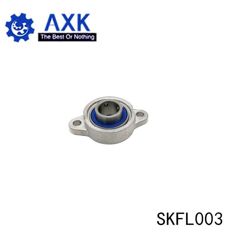 SKFL003 Bearing Shaft 17mm ( 1 Pc ) SSKFL003 Stainless Steel Pillow Block S KFL003 17 mm BearingsAB