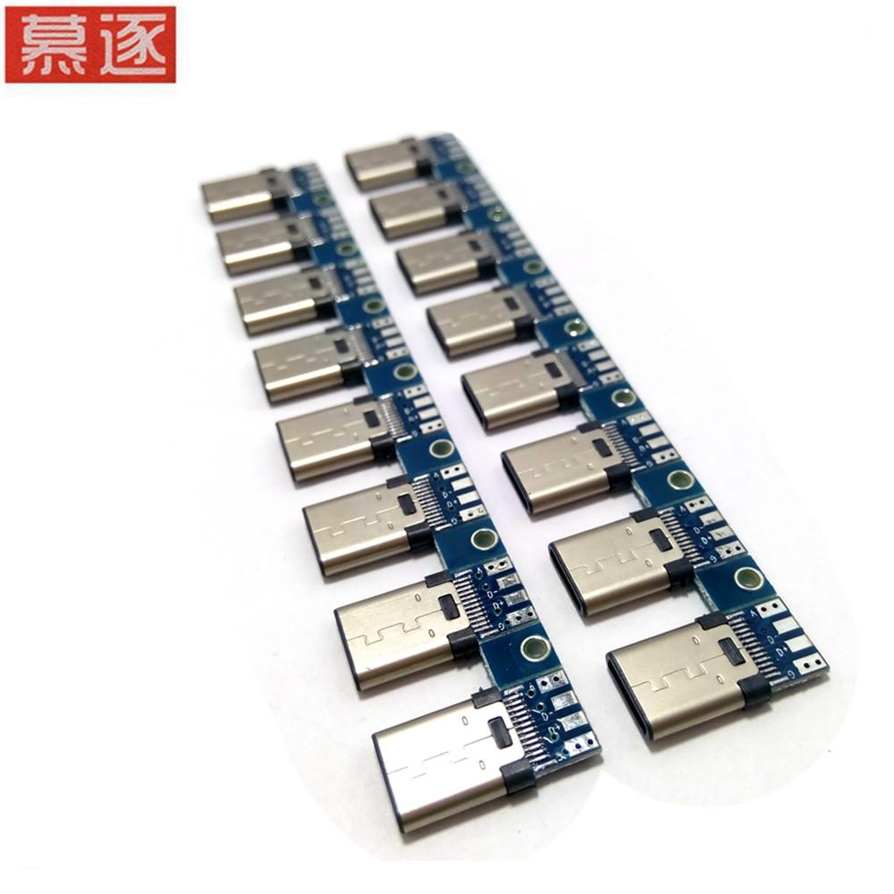 1 uds/5 uds/10 Uds DIY OTG USB-3.1 enchufe macho de soldadura USB...