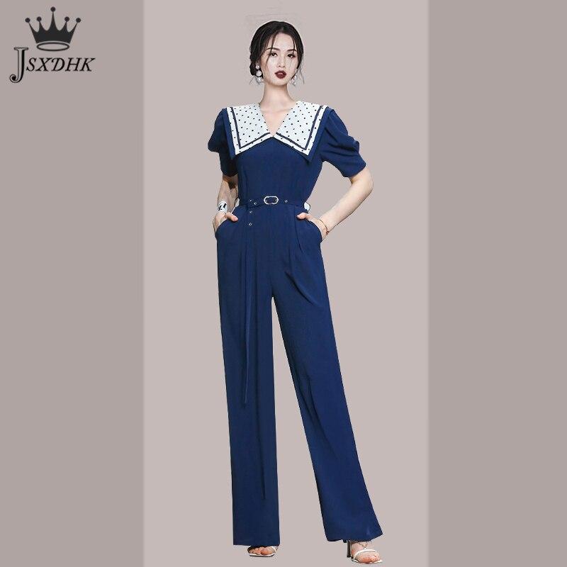2021 صيف جديد الكورية الراقية مزاجه مستقيم بذلة عالية الخصر حزام ملابس بأكمام قصيرة التلبيب السروال القصير مكتب السيدات