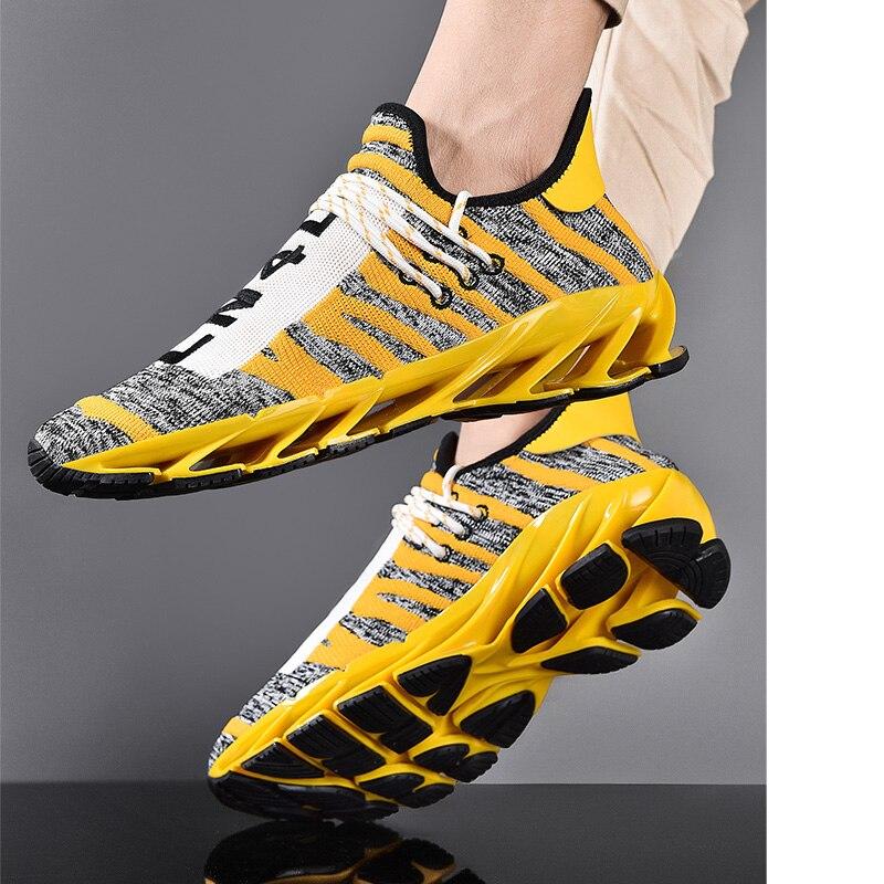 Zapatillas de deporte a la moda para hombre, zapatos informales para caminar, zapatos transpirables de tela de algodón, zapatos para correr con amortiguación, tallas grandes 45 46