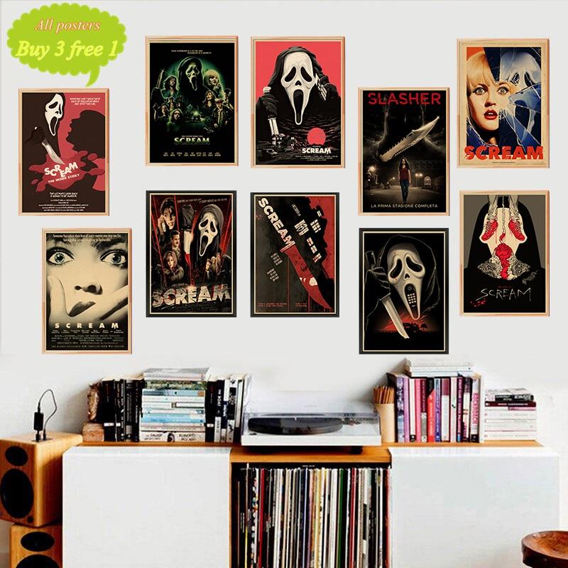 Schrei Propaganda Vintage Kraft Poster Dekorative Wand Leinwand Malerei Aufkleber Home Bar Poster Dekoration