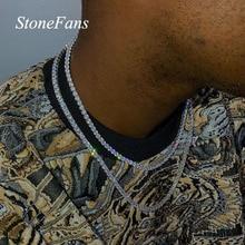 Stonefans 1 rangée strass hommes Hip Hop collier rappeur tour de cou chaîne rondelle glacé Tennis chaîne collier Bling cristal pour les femmes