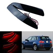 ANGRONG-lentille fumée noire réflecteur arrière   Pare-choc rouge pour BMW E70 X5 06-13