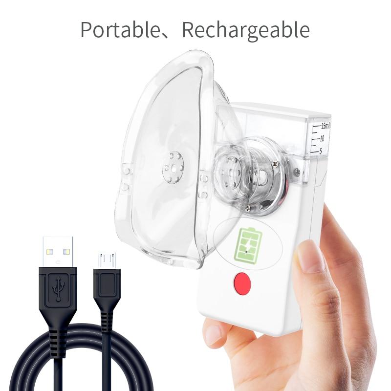Portable Medical Nebulizer Inhaler Rechargeable Nebulizer Handheld Silent Ultrasonic Atomizer Child Adult Asthma Nebulizer