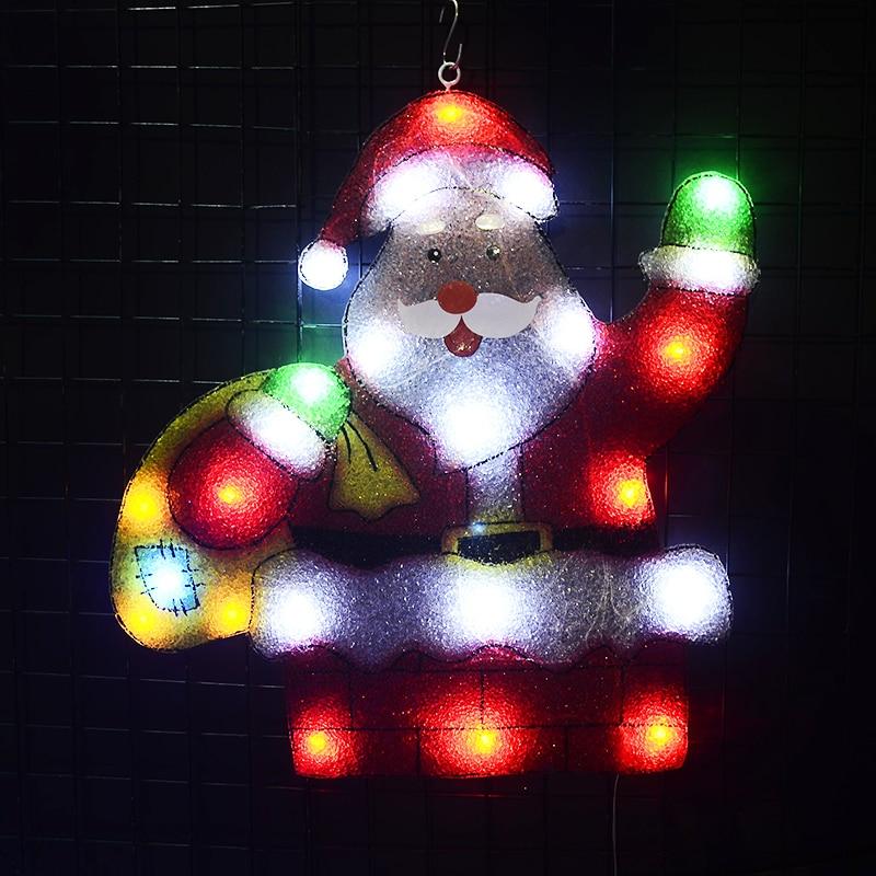Toprex 2D christmas santa clause chimney LED decoration light navidad holiday party lighting