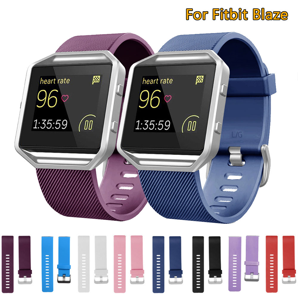 Wristband For Fitbit Blaze Wrist Strap Smart Bracelet Watchband Colourful Silicone for Fitbit Watch Band new fashion watchband replacement metal alloy watch strap for fitbit blaze smart watch band with case luxury bracelet wristband