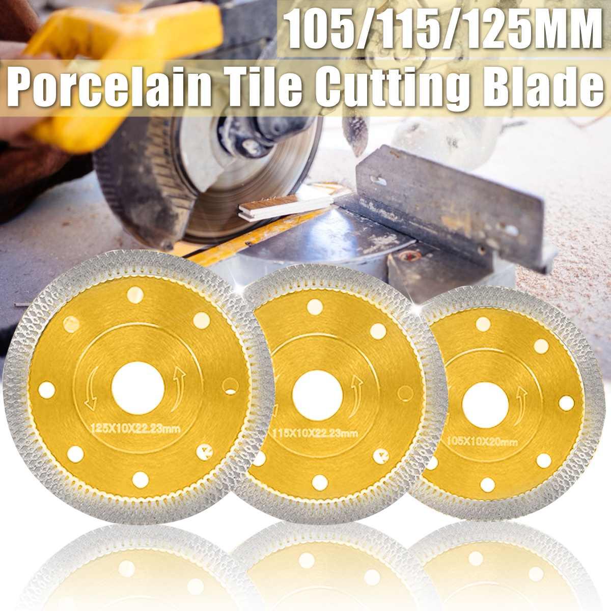 105mm 115mm 125mm hoja de sierra de diamante estilo onda para azulejo de porcelana disco de corte en seco de cerámica granito piedra Sierra