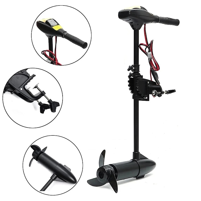 Lighten Up18LBS 144W 4km Marine 18LBS 12V Inflatable Boat Electric Trolling Motor Engine Fishing Kayak Engine Outboard Motor