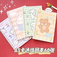 Милый мультяшный спиральный блокнот A5, 60 листов, милый кролик, медведь, ежедневник, Еженедельный планировщик, блокнот, органайзер времени, ш...