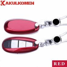 Best 3 buttons Car Key Fob Cover Key case wallet exclusive bag house For Suzuki S-Cross Alivio Kizashi Swift sport autoparts
