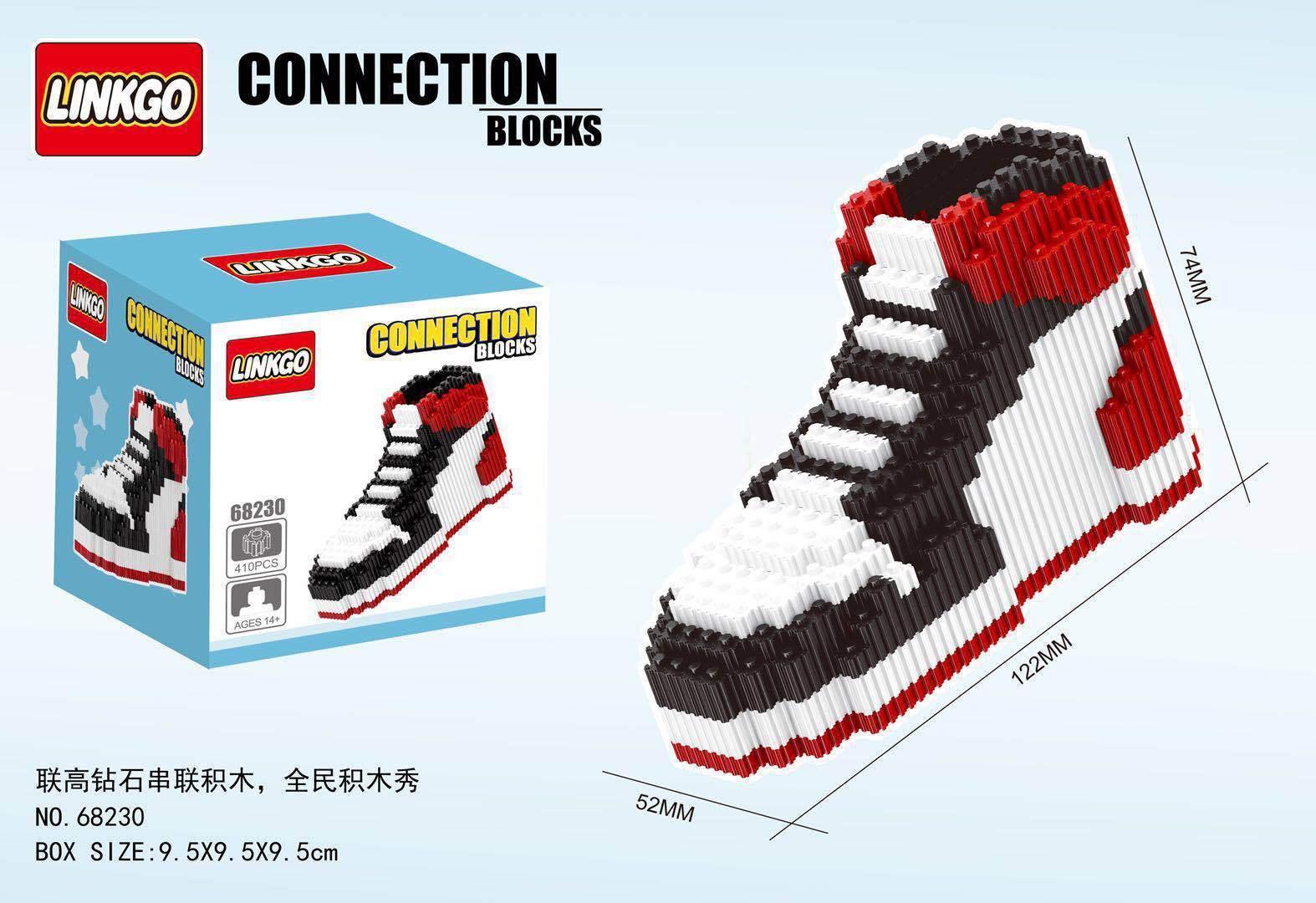 Mini Building Block Basketball Shoes Model AJ Sneakers Build-bricks Set DIY Assembly For Kids Gifts
