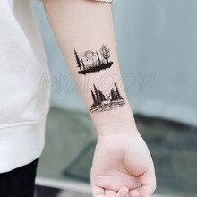 Tattoo Sticker deer bird animal forest tree planet sun moon Water Transfer Temporary Fake tatto flash tatoo for kid girl men
