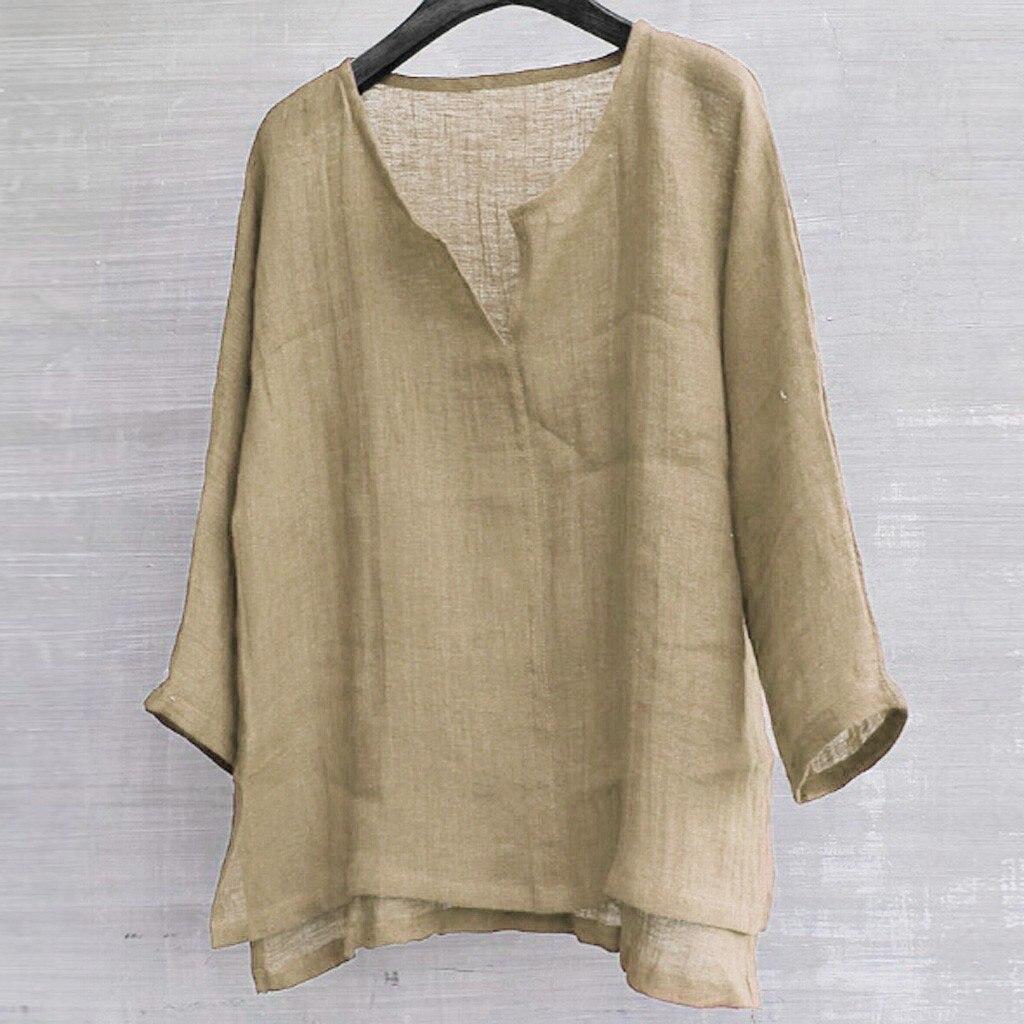 Camisas Para Hombre Mens Kurze Atmungs Comfy Feste Farbe Lange Hülse Lose Beiläufige Hemd Bluse Sommer Leinen Shirts Chemise
