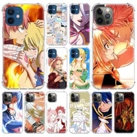 anime manga fairy tail soft case for iphone 12 pro 12 mini 11 pro max xr 7 8 x xs max 6 6s 7 8 plus airbag phone shell cover