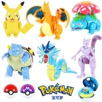 original pokemon toys set pocket monster pikachu action figure pokemon game poke ball model anime figure collect toy xmas gift