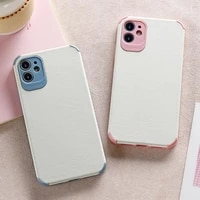 lamb skin apple 11 xr mobile phone case simple protection suitable for iphone12pro 3d skinned mobile phone case