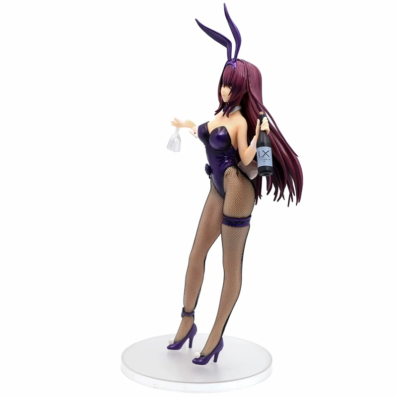 infinite stratos charlotte dunois laura bodewig action figure cosplay bunny girl version pvc toy 24cm 24cm Anime Fate/Grand Order Scathach Lancer Alter Sashi Ugatsu Soft Bunny Girl Sexy Girls PVC Action Figure Toys Model