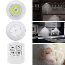 Placard à piles avec télécommande sans fil, éclairage à intensité réglable, veilleuse, avec fonction de minuterie
