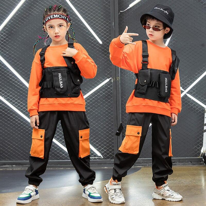 Prendas de hip-hop párr niño camiseta de chaleco táctico militar de bolsa...