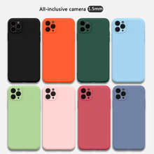 For iPhone 11 12 Pro SE 2 Case Luxury Original Silicone Solid Color Full Protection Soft Cover For iPhone X XR 11 XS Max 7 8 Ph