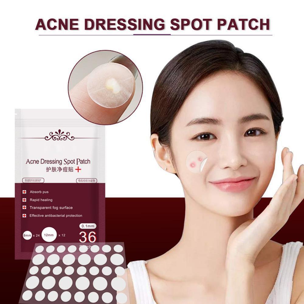 36 pçs acne curativo mancha remendo cuidados com a pele tratamento de manchas invisible acne adesivos removedor de espinha ferramenta conjunto creme para o rosto