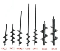 auger drill bit set for planting garden spiral hole drill planter bulb bedding plant augers