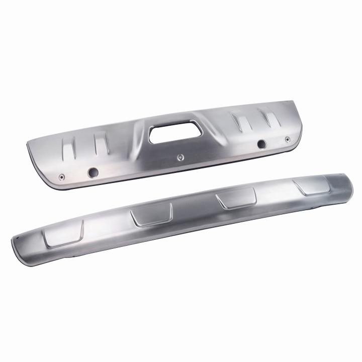 واقي المصد الأمامي المعدني لسيارة نيسان X-Trail 2014 ، 2015 ، 2016 ، T32 ، حماية المصد الخلفي ، ملحقات ثقب المفاتيح