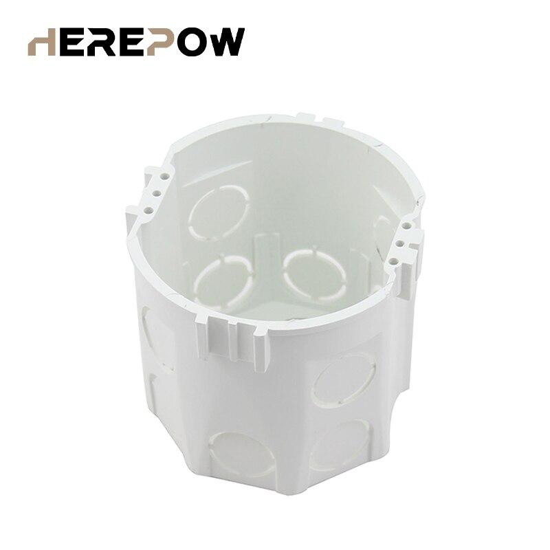 Norme ue Heropow, boîtier de montage mural rond, Cassette interne, boîtier de câblage, boîtier arrière blanc pour interrupteur et prise ue