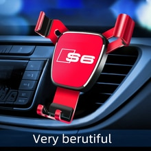 New Car Air Outlet-Holder for Audi S6 Mobile Phone Car logo Car Navigation Smartphone stand Automoti