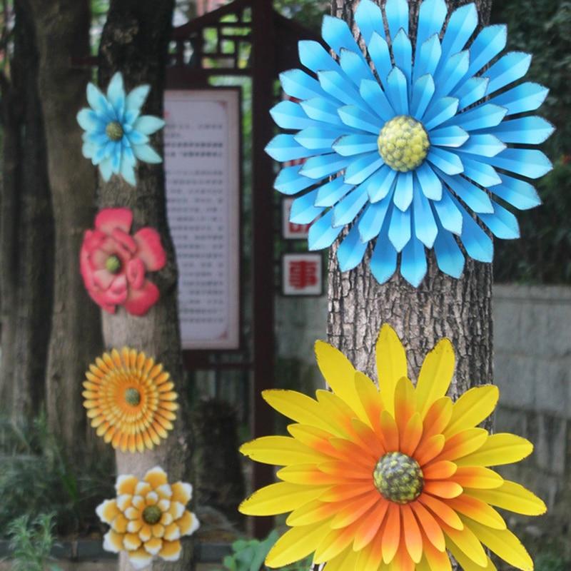 عباد الشمس الحلي الحديد زهرة فناء حديقة الديكور الجدار الديكور البستنة لوازم décoration دي جاردين حديقة