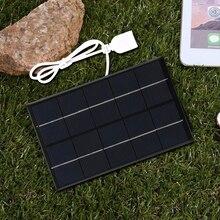 USB พลังงานแสงอาทิตย์กลางแจ้ง5W 5V เครื่องชาร์จพลังงานแสงอาทิตย์แบบพกพาบานหน้าต่างปีนเขา Fast Charger...