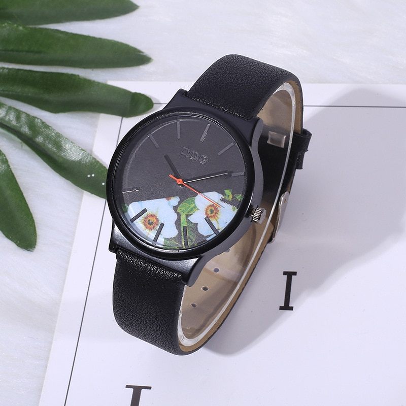Фото - 2021 Ladies Quartz Leather Watch Analog Simple Casual Gift New Fashion woman quartz analog hollow musical note style leather fashion ladies casual watch female