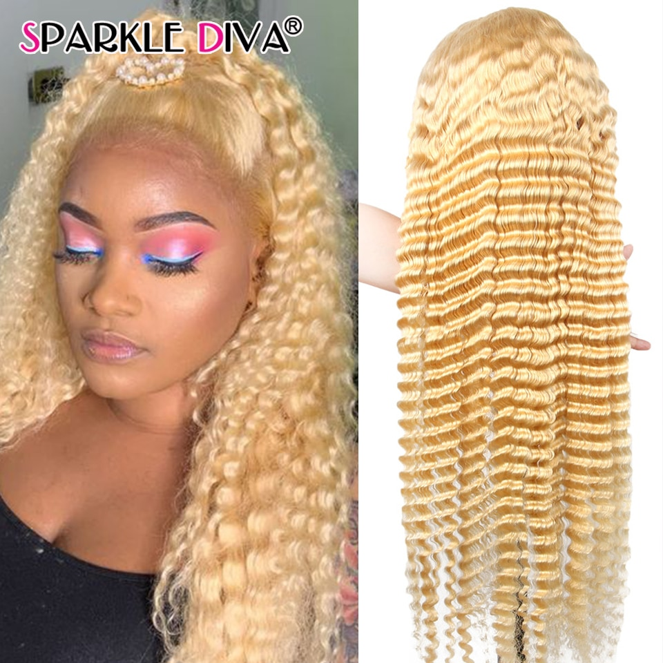 wignee natural wave lace front short human hair wigs for black women 150% density remy hair ombre green pink 613 swiss human wig 613 Honey Blonde Lace Front Human Hair Wigs 13x4 Deep Wave Lace Front Wig 150 Density Remy Brazilian Human Hair Wigs For Women