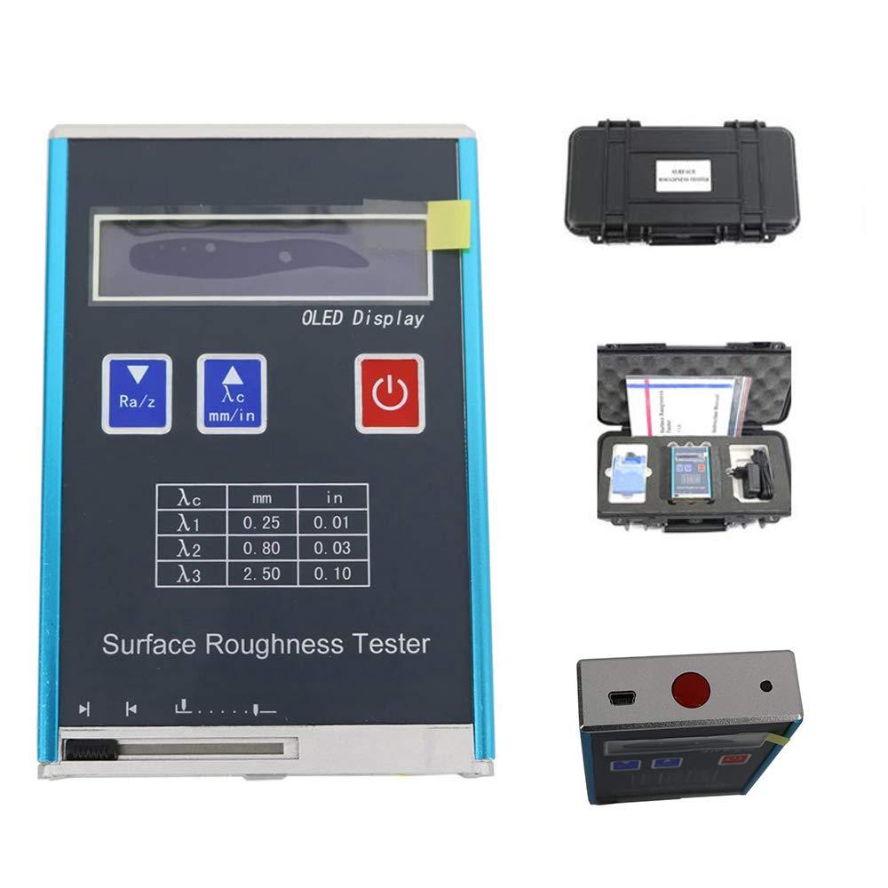 جهاز اختبار خشونة السطح المحمول مع 4 معلمات اختبار ، Ra ، Rz ، Rq ، Rt ، دقة مؤشر 0.01 ميكرومتر