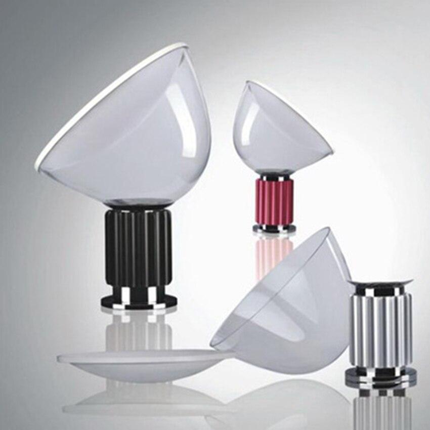 مصباح رادار زجاجي LED إسكندنافي ، تصميم ما بعد الحداثة ، إضاءة زخرفية داخلية ، مثالي لغرفة المعيشة أو غرفة النوم أو المكتب.