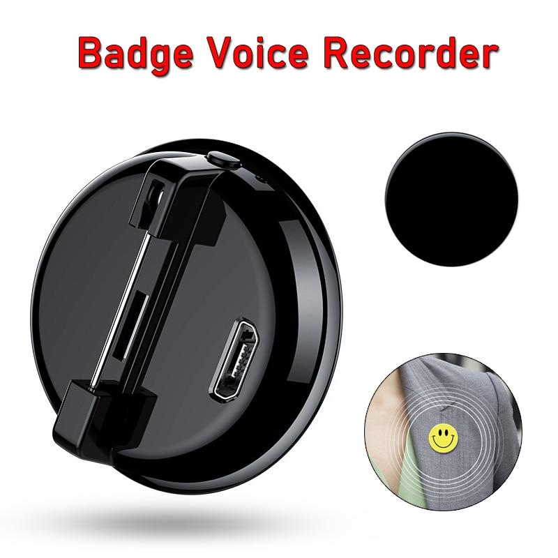 192kbps Cartoon Badge Clip Audio Recorder Key chain Mini Activated Digital Smart Voice Recording  MP3 Music Player