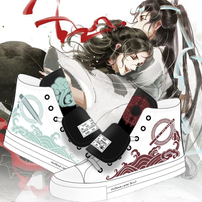 أحذية رياضية من القماش للرجال والنساء, أحذية أنيمي Grandmaster of Demonic Cultivation تأثيري Lan WangJi Wei WuXian Mo Dao Zu Shi أحذية رياضية قماشية مجموعة