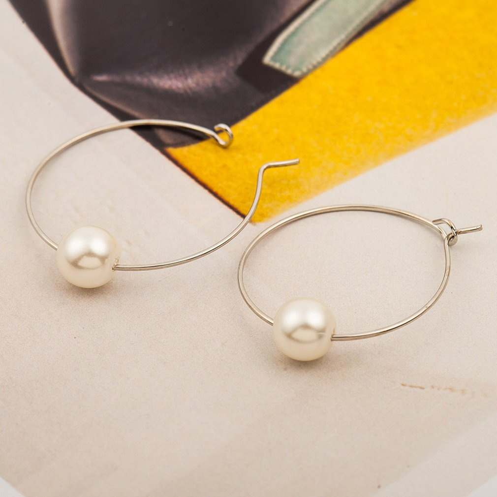 Geometric Pearl Earrings Female Temperament Accessories Jewelry 2019