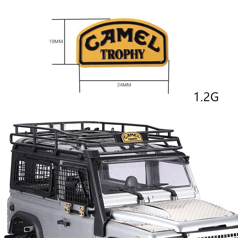 DJ Metal Sticker Camel Trophy Badge For 1/12 RC Crawler Car Label Nameplate Parts