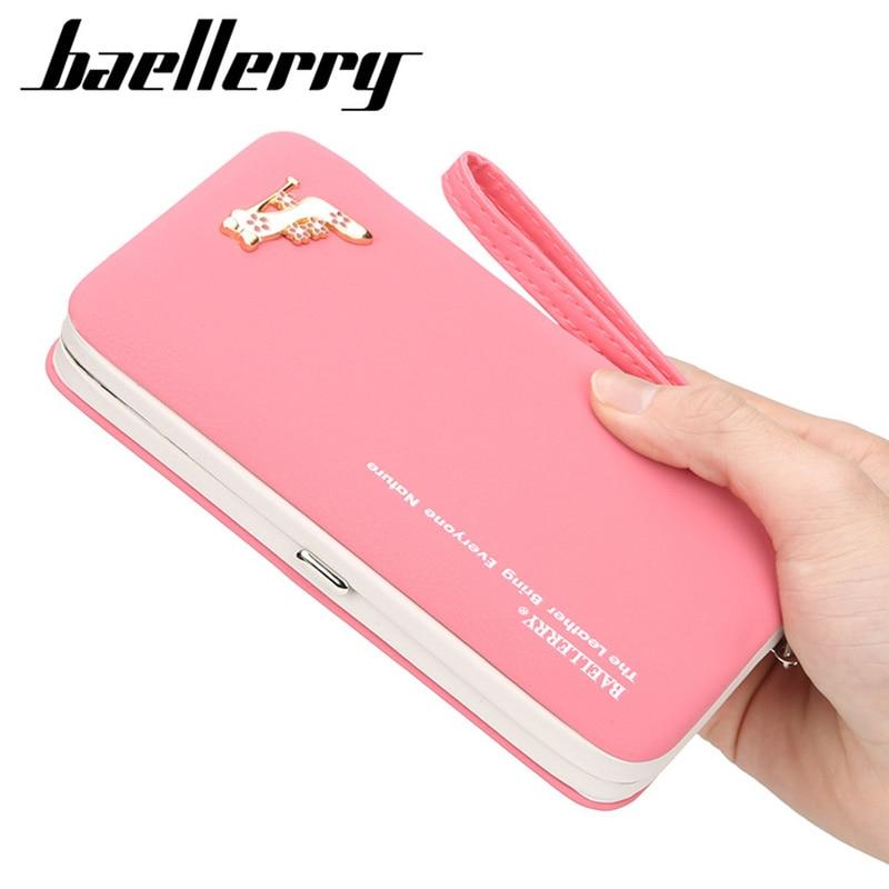 Baellerry Wallets And Purses Cellphone Pocket Clutch Bag Card Holder PU Leather Women Money Bag Clut