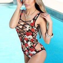 @ Encaje Amarillo up bikini mujer hueco pecho abierto traje de baño una pieza espalda abierta traje de playa sensual deportes acuáticos bañador casual
