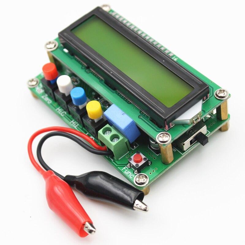 Medidor de inductancia Lc100 Digital LCD de alta precisión, medidor de capacitancia, medidor de frecuencia capacitora 1Pf-100Mf 1Uh-100H Lc100-+ Te