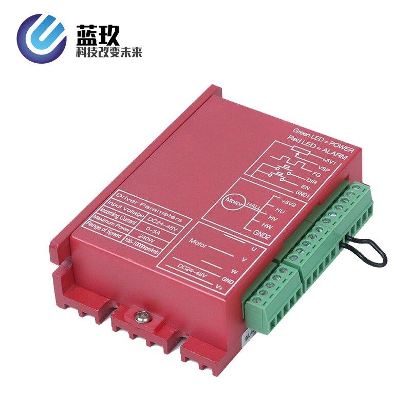 Lkbl4810f 24v-48v 10a brushless dc motorista de motor quadrado ware 300w bldc controlador laço aberto com sensor hall direção de velocidade