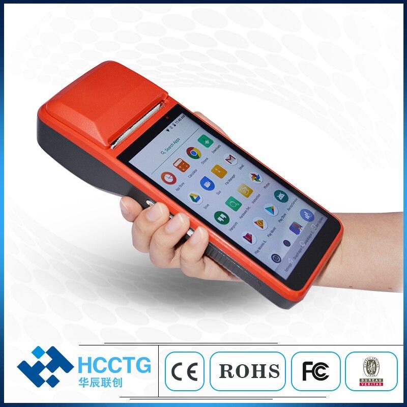5,0 pulgadas 4G + Wifi + Bluetooth Android máquina POS móvil con R330-G de impresora