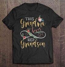 Mężczyźni Funny T koszula moda tshirt ten babcia kocha jej wnuk dla kobiet