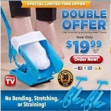 1pc Sock Slider Aid Blue Helper Kit Helps Put Socks On Off No Bending Shoe Horn Suitable For Socks F