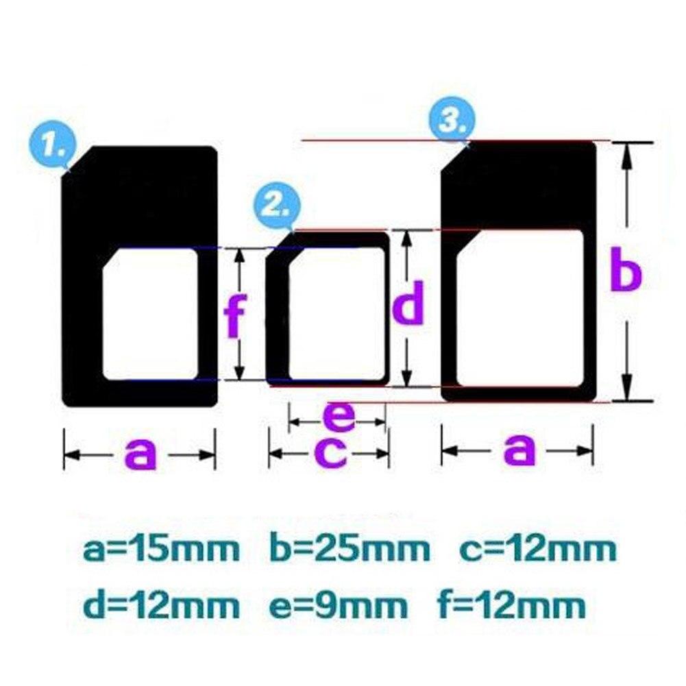 Juego de 10 adaptadores de Tarjeta SIM estándar Mini Micro Nano B99